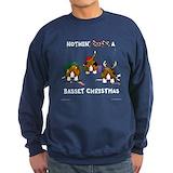 Basset hound christmas Sweatshirt (dark)