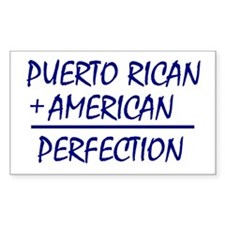 Puerto Rican American heritage Rectangle Decal