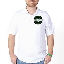 Imagine Peace Vintage Golf Shirt