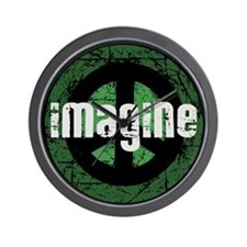 Imagine Peace Vintage Wall Clock