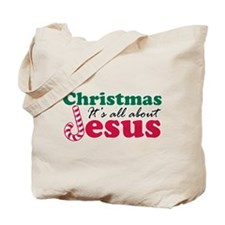 Christmas about Jesus Tote Bag