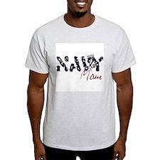 Navy Mom Ash Grey T-Shirt
