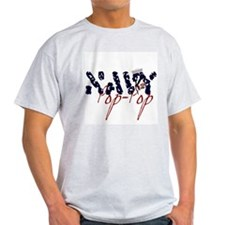 Navy Pop-Pop Ash Grey T-Shirt