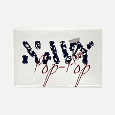 Navy Pop-Pop Rectangle Magnet