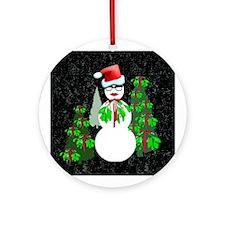 Diva Snowwoman Ornament (Round)