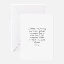 LUKE  4:5 Greeting Cards (Pk of 10)