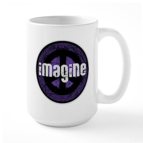 Imagine Peace Vintage Large Mug