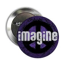 """Imagine Peace Vintage 2.25"""" Button"""
