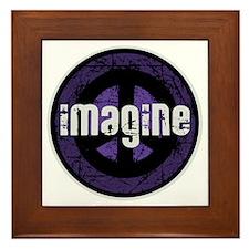 Imagine Peace Vintage Framed Tile