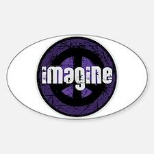 Imagine Peace Vintage Oval Sticker (10 pk)