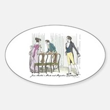 Pride and Prejudice Ch 54 Oval Decal