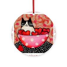 Be a Feline Valentine! Ornament (Round)