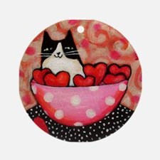 Be a Feline Valentine! Ornament (Round)