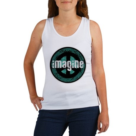 Imagine Peace Vintage Women's Tank Top
