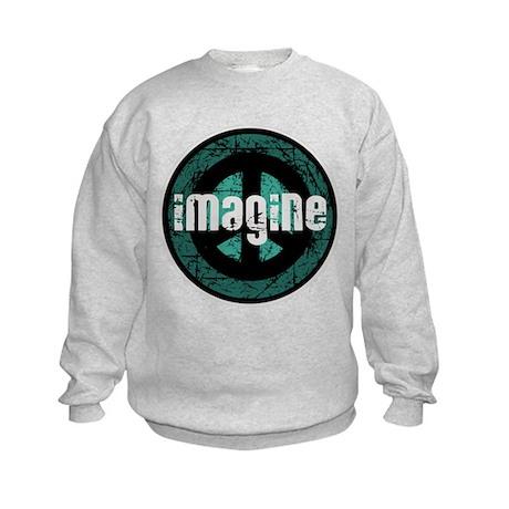 Imagine Peace Vintage Kids Sweatshirt