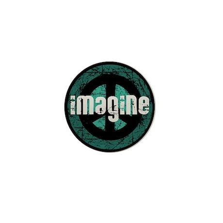 Imagine Peace Vintage Mini Button