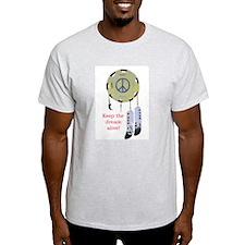 Peace Shield Ash Grey T-Shirt