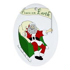 Santa: Peace on Earth Xmas Ornament