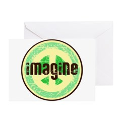 Imagine Peace Vintage Greeting Cards (Pk of 10)