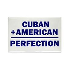 Cuban American Rectangle Magnet