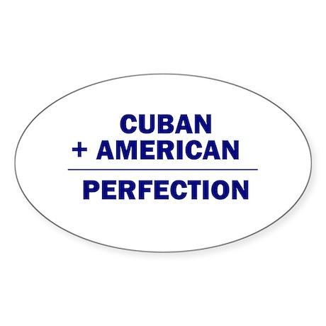 Cuban American Oval Sticker