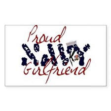 Proud Navy Girlfriend Rectangle Decal