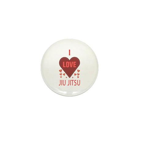 I Love Jiu Jitsu Mini Button