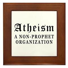 Atheism Non-Prophet Framed Tile