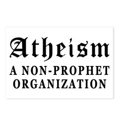 Atheism Non-Prophet Postcards (Package of 8)