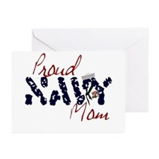 Proud Navy Mom Greeting Cards (Pk of 10)