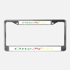 Oneness License Plate Frame