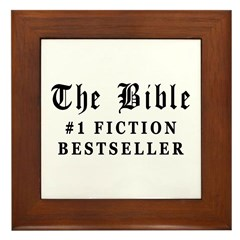 The Bible Fiction Bestseller Framed Tile