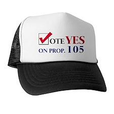 Vote YES on Prop 105 Trucker Hat