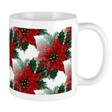 Sparkling Red Poinsettias Mug