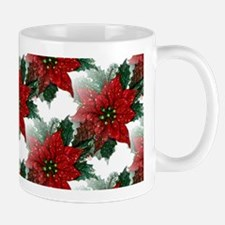 Sparkling Red Poinsettias Mug