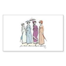 Pride and Prejudice Ch 54a Rectangle Decal