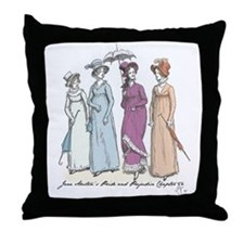 Pride and Prejudice Ch 54a Throw Pillow