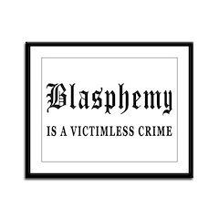 Blasphemy Framed Panel Print