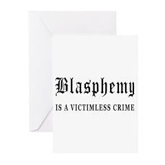 Blasphemy Greeting Cards (Pk of 20)
