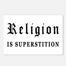 Religion is Superstition Postcards (Package of 8)