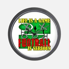 Football is Serious Wall Clock