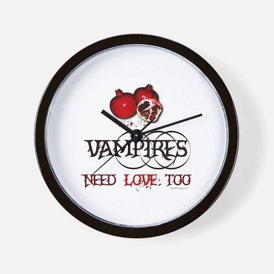 Twilight Vampires Need Love Too Wall Clock
