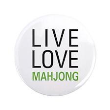 "Live Love Mahjong 3.5"" Button"