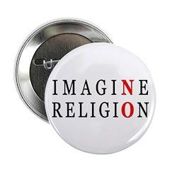"Imagine No Religion 2.25"" Button (100 pack)"