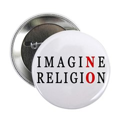 "Imagine No Religion 2.25"" Button (10 pack)"