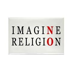 Imagine No Religion Rectangle Magnet (100 pack)