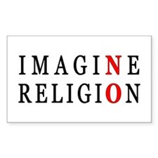 Imagine No Religion Rectangle Decal