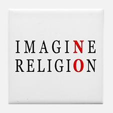 Imagine No Religion Tile Coaster