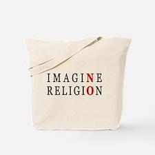 Imagine No Religion Tote Bag