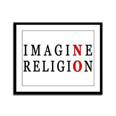 Imagine No Religion Framed Panel Print